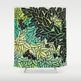 Leafy YingYang Shower Curtain