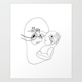 Botanical Mother and Baby Art Print