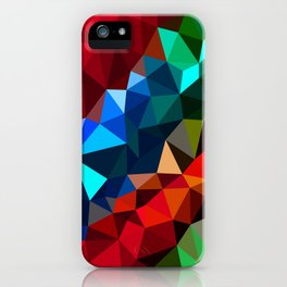 Geometric elements iPhone Case