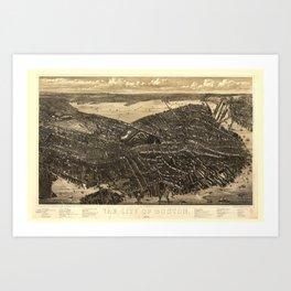 The City of Boston Massachusetts (1879) Art Print
