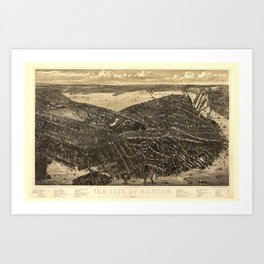 The City of Boston Massachusetts (1879) Art Print