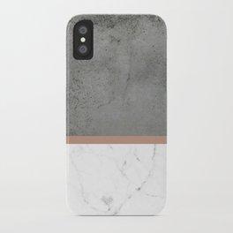 Marble Concrete fusion coral iPhone Case