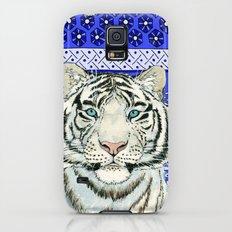 White Tiger in blue Az024 Slim Case Galaxy S5