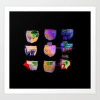 neon Art Prints featuring neon by clemm
