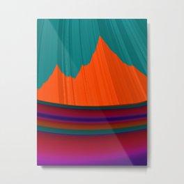 Paint Me a Mountain Metal Print