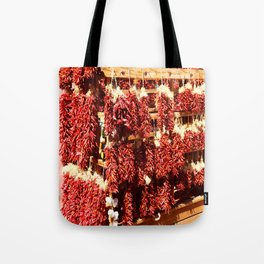 Red Chili Ristra And Gralic Tote Bag