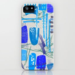Mid-Century Blues iPhone Case