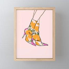Floral Boots Framed Mini Art Print