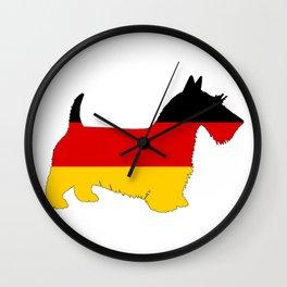 German Flag - Scottish terrier Wall Clock