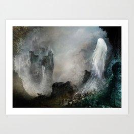 Château Noir pour Dame Blanche Art Print