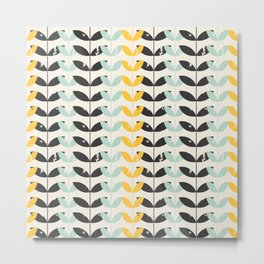 Retro pattern in scandinavian style Metal Print