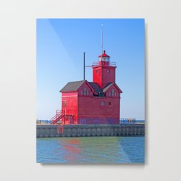 Big Red Light Metal Print
