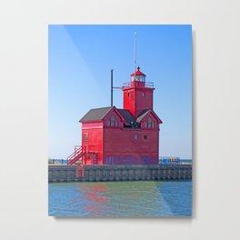 Big Red Light Metal Print