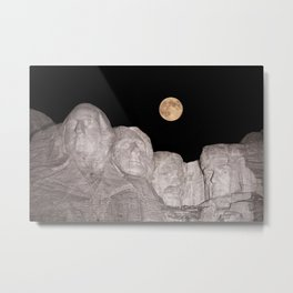 Blue moon over Mount Rushmore National Memorial. Metal Print