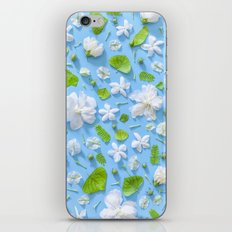 Leaves and flowers pattern iPhone & iPod Skin
