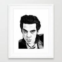 "nick cave Framed Art Prints featuring ""Nick Cave"" by Jocke Hegsund"