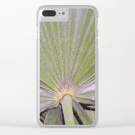 Saw Palmetto Abstract Clear iPhone Case