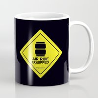 audi Mugs featuring AIR RIDE EQUIPPED by shedpress