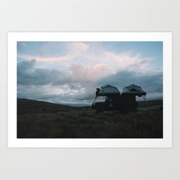 Mountain Camp, NZ Art Print