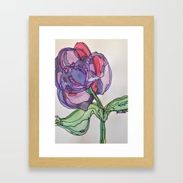Purple and Pink Framed Art Print