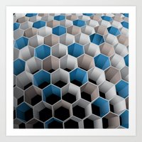 honeycomb Art Prints featuring Honeycomb by amanvel