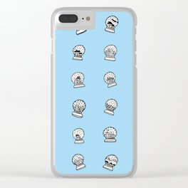 Shake It Up Christmas Snow Globes Clear iPhone Case