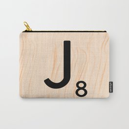 Scrabble Letter J - Large Scrabble Tiles Carry-All Pouch