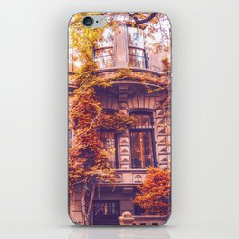 Dressed Up in Autumn - New York City Brownstones iPhone Skin