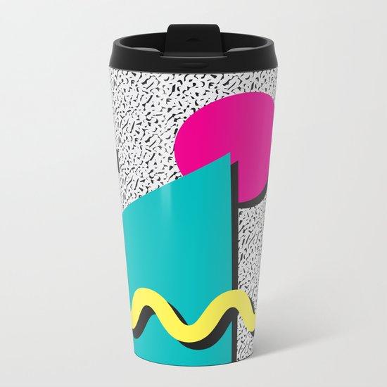 Abstract 1980's Metal Travel Mug