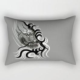 Dragon in Tattoostyle , black - white and grey Design Rectangular Pillow