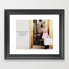 pretty in pink one Framed Art Print