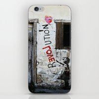 revolution iPhone & iPod Skins featuring rEVOLution by Bärdie D/Sign