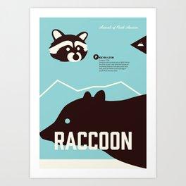 Wildlife of North America: Raccoon Art Print