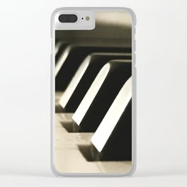 Piano Keys 2 Clear iPhone Case