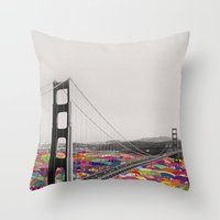boyfriend Throw Pillows featuring It's in the Water by Bianca Green