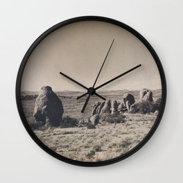 Desert Rocks Wall Clock
