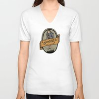 middle earth V-neck T-shirts featuring Gandalf's Middle earth tour by SuperEdu