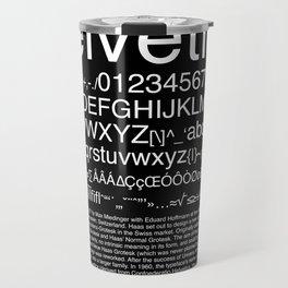 Helvetica (White) Travel Mug