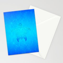 Ocean Blue Tribal Turtle Stationery Cards