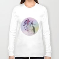 artsy Long Sleeve T-shirts featuring artsy heartsy by Eric Um