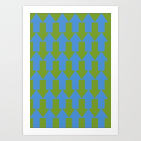 blue mainstream Art Print