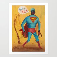 superman Art Prints featuring superman by Robert Deutsch