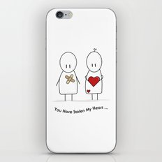 You Have Stolen My Heart iPhone & iPod Skin