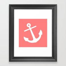 Coral Anchor Framed Art Print