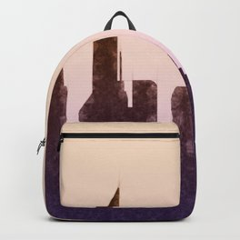 Modern City Buildings And Skyscrapers Sketch, New York Skyline, Wall Art Poster Decor, New York City Backpack