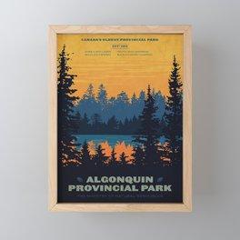 Vintage Algonquin Canada Travel Poster Framed Mini Art Print