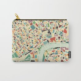 CITY OF LONDON MAP ART 01 Carry-All Pouch