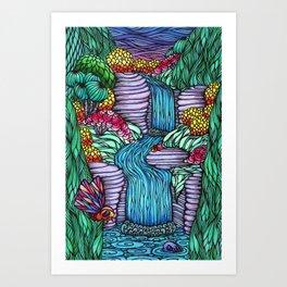 Falling Water Art Print