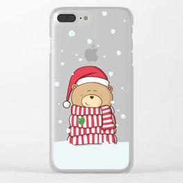 Christmas Teddy bear Clear iPhone Case