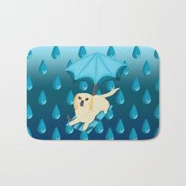 Rain Drop Umbrella Dog Bath Mat